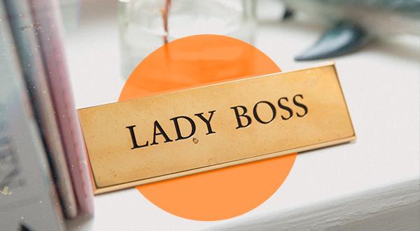 Lady Boss nameplate