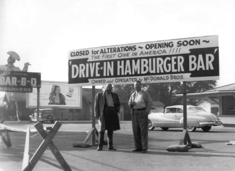 1948 picture of McDonald Brothers