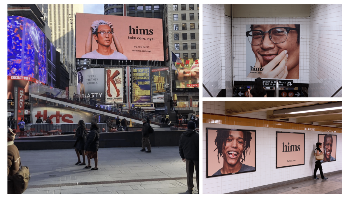 Hims ads in NYC