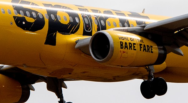 Spirit Airlines airplane image